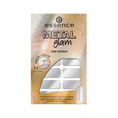 Дизайн ногтей essence Наклейки для ногтей Metal Glam Nail Stickers 01 (Цвет 01 Silver Star variant_hex_name CECDD0)