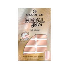 Дизайн ногтей essence Наклейки для ногтей Metal Glam Nail Stickers 03 (Цвет 03 Glam-Me variant_hex_name EEBAA6)