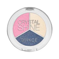 Тени для век Divage Crystal Shine 02 (Цвет 02 variant_hex_name 7F82A3)