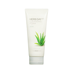 Пенка The Face Shop Herb Day 365 Cleansing Foam Aloe (Объем 170 мл)