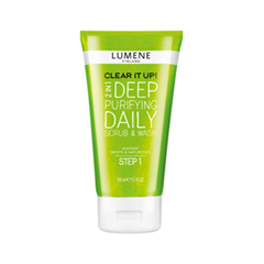Lumene Deep Purifying Daily Scrub & Wash. Clear It Up! (Объем 150 мл) ahava time to clear purifying mud mask объем 100 мл