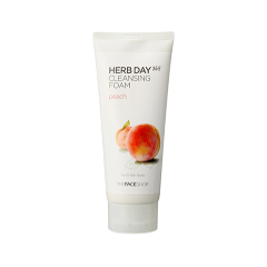 Пенка The Face Shop Herb Day 365 Cleansing Foam Peach (Объем 170 мл) пенка the face shop rice water bright rice bran cleansing foam