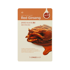 Тканевая маска The Face Shop Real Nature Mask Sheet Red Ginseng (Объем 20 мл) orthodontic reverse pull fact mask dental headgear orthodontic face mask adjustable face mask