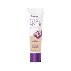 Тональная основа Rimmel Stay Matte 103 (Цвет 103 True Ivory variant_hex_name E4B99B)