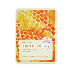 Тканевая маска Tony Moly Pureness 100 Propolis Mask Sheet (Объем 21 мл) tony moly sheet gel mask pureness 100 collagen маска тканевая с экстрактом коллагена 21 мл