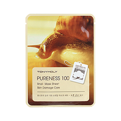 Тканевая маска Tony Moly Pureness 100 Snail Mask Sheet (Объем 21 мл) tony moly sheet gel mask pureness 100 collagen маска тканевая с экстрактом коллагена 21 мл