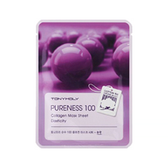 Тканевая маска Tony Moly Pureness 100 Collagen Mask Sheet (Объем 21 мл) tony moly маска для лица pureness 100 green tea mask sheet