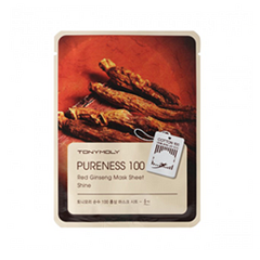 Тканевая маска Tony Moly Pureness 100 Red Ginseng Mask Sheet (Объем 21 мл) tony moly sheet gel mask pureness 100 collagen маска тканевая с экстрактом коллагена 21 мл