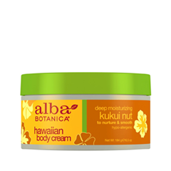 Крем для тела Alba Botanica Hawaiian Body Cream. Deep Moisturizing Kukui Nut Body Cream (Объем 184 г)