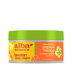 Крем для тела Alba Botanica Hawaiian Body Cream. Rejuvenating Papaya Mango (Объем 184 г)