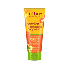 Гель для душа Alba Botanica Hawaiian Exfoliating Body Wash. Rejuvenating Papaya Mango (Объем 207 мл)