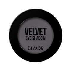 Тени для век Divage Velvet 01 (Цвет 7301 variant_hex_name 666165)