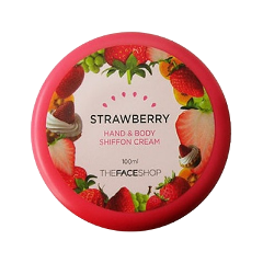 Крем для тела The Face Shop Hand  Body Shiffon Strawberry Cream (Объем 100 мл)
