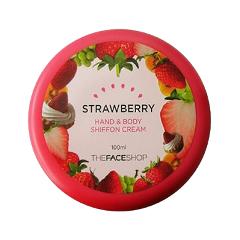 Крем для тела The Face Shop Hand & Body Shiffon Strawberry Cream (Объем 100 мл)  недорого