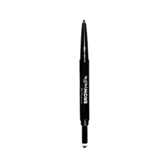 Карандаш для бровей Maybelline New York Brow Satin Duo 04 (Цвет 04 Dark Brown variant_hex_name 75513C) карандаш для бровей maybelline new york master shape цвет soft brown variant hex name 836453