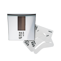 Тени для бровей Make Up Factory Eye Brow Powder with Stencils 01 (Цвет 01 Intense Brown variant_hex_name 746051)