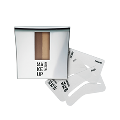 ���� ��� ������ Make Up Factory Eye Brow Powder with Stencils 04 (���� 04 Chocolate Brown)