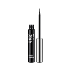 Подводка Make Up Factory Liquid Eye Liner 01 (Цвет 01 Black variant_hex_name 000001) карандаш для глаз make up factory automatic eyeliner 01 цвет 01 black velvet variant hex name 000001