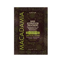 Маска Kativa Увлажняющая маска для поврежденных волос (Объем 35 г) маска kativa argan oil intensive repair treatment объем 35 г