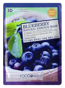 Тканевая маска - Blueberry Natural Essence 3D Mask
