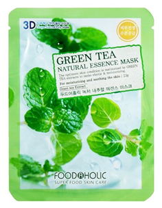 Тканевая маска - Green Tea Natural Essence 3D Mask