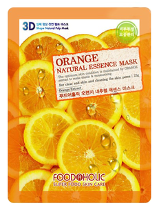 Тканевая маска - Orange Gram Natural Essence 3D Mask