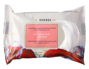 Влажные салфетки - Pomegranate Cleansing & Make Up Removing Wipes For Oily And Combination Skin