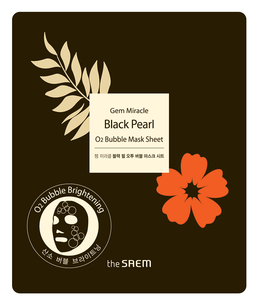 Тканевая маска - Gem Miracle Black Pearl O2 Bubble Mask Sheet