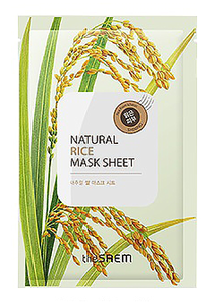 Тканевая маска - Natural Rice Mask Sheet