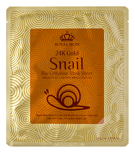 Тканевая маска - 24K Gold Snail Bio Cellulose Mask Sheet