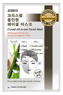 Тканевая маска - Junico Crystal All-in-one Facial Mask Snail