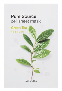 Тканевая маска - Pure Source Cell Sheet Mask Green Tea