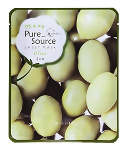 Тканевая маска - Pure Source Sheet Mask Olive