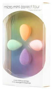 Спонжи и аппликаторы - beautyblender micro.mini correct.four