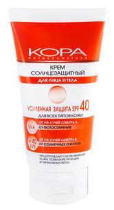 Крем солнцезащитный SPF40 для лица и тела