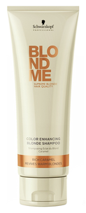 Шампунь - BlondMe Color Enhancing Blonde Shampoo Rich Caramel