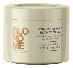 Маска - BlondMe Keratin Restore Blonde Mask