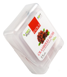 Зубная нить - Floss Vegan Xylitol Cranberry 55 Yds