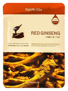 Тканевая маска - Visible Difference Mask Sheet Red Ginseng