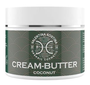 Крем для тела - Крем-баттер с кокосом Coconut Cream Butter Organic Cosmetic