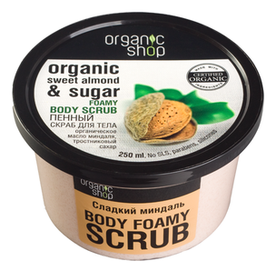 Скрабы и пилинги - Organic Sweet Almond & Sugar Body Scrub