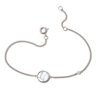 Браслеты SKYE Браслет-цепочка с белым кругом кольца skye кольцо с белым треугольником размер 0