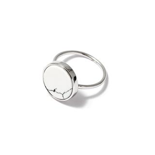 Кольца SKYE Кольцо с белым кругом 17 (Размер 17) кольца skye кольцо с белым треугольником размер 0