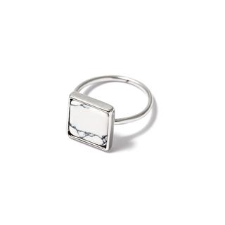 Кольца SKYE Кольцо с белым квадратом 17 (Размер 17) кольца skye кольцо с белым треугольником размер 0
