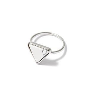 Кольца SKYE Кольцо с белым треугольником 16 (Размер 16) кольца skye кольцо с белым треугольником размер 0