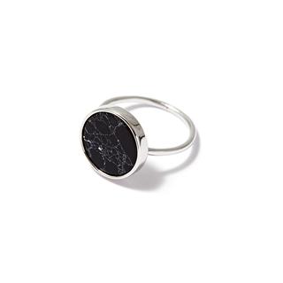 Кольца SKYE Кольцо с черным кругом 17 (Размер 17) кольца skye кольцо с белым треугольником размер 0
