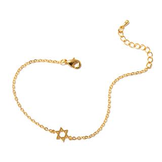 Браслеты SKYE Золотистый браслет с шестиконечной звездой олег трушин под счастливой звездой
