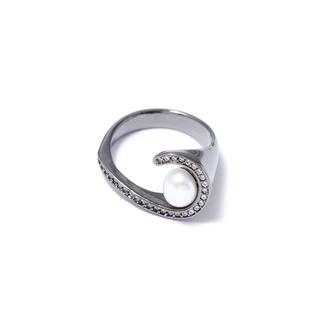 Кольца Herald Percy Черненое кольцо с жемчугом 17 (Размер 17)