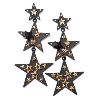 Серьги Herald Percy Черные серьги-звезды с позолотой herald percy колье с цирконами