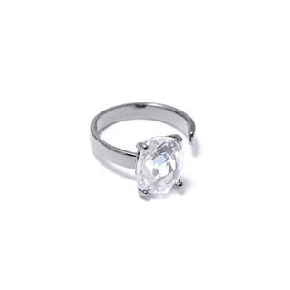 Кольца Herald Percy Незамкнутое кольцо с прозрачным кристаллом